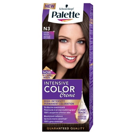 Боя за коса PALETTE Intensive Color Creme N3 Среднокафяв