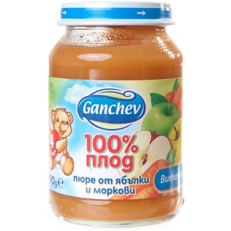 Пюре от Ябълки и моркови Ганчев 190g