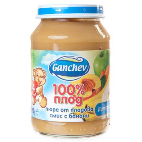 Пюре плодова смес с банани Ганчев 190g