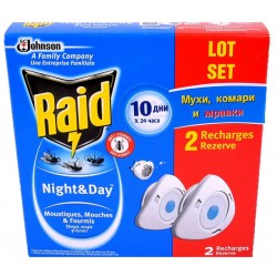 Двоен пълнител  Raid  Ден и Нощ против насекоми