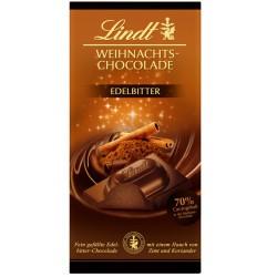 Lindt Коледен шоколад 70% какао 100g
