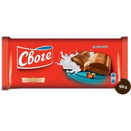 Шоколад Своге млечен 90g