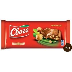 Шоколад Своге лешник 90g