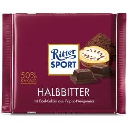Шоколад RITTER SPORT ПОЛУГОРЧИВ 100g