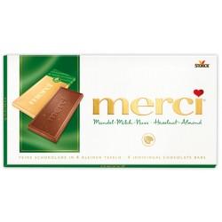 Шоколад MERCI Млечен с ядки 100g