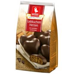 WEISS Меденки Сърца с тъмен шоколад 150g