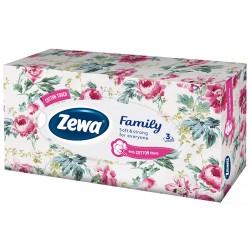 Кърпи за лице Zewa Family Цветя 90 бр. 3 пластови