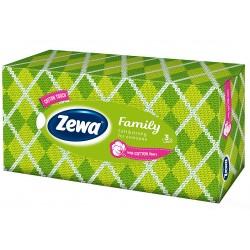 Кърпи за лице 90 бр. 3 пл. Zewa зелена кутия