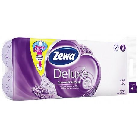 Тоалетна хартия Zewa Deluxe Лавандула 3пл. 8+2 бр.