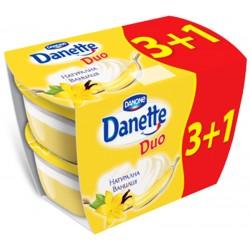 Danette DUO Ванилия 4х115g