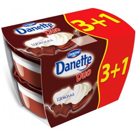 Данет DUO Шоколад 4х115 г