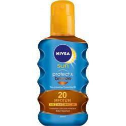 Спрей олио NIVEA слънцезащитен PROTECT&BRONZE SPF20 200ml