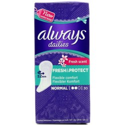 Дамски превръзки Always Fresh & Protect Normal Deo, 30 бр