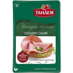 """Траен колбас """"Четири сезона"""" Сандвич салам Тандем 150g слайс"""