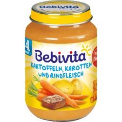 Bebivita пюре картофи моркови и телешко 0,190