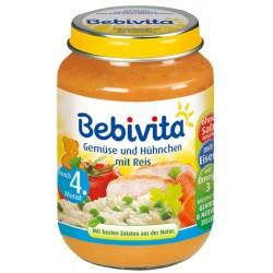 Bebivita пюре ориз и зеленчуци с пилешко месо 190g