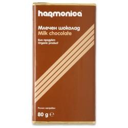БИО ШОКОЛАД МЛЕЧЕН HARMONICA 80g