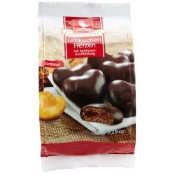 Меденки WEISS Сърца с тъмен шоколад и пълнеж 150g