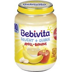 Bebivita плодов дует ябълка, банан и извара 190g