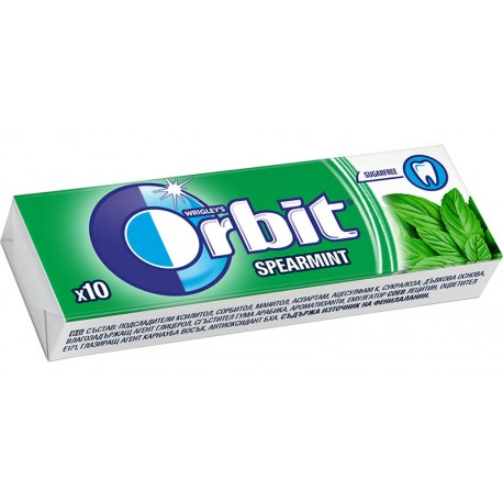 Дъвки Orbit spearmint драже 10бр. 14g