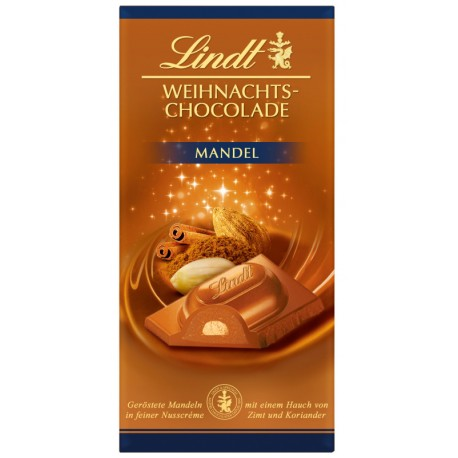 Lindt Коледен шоколад Бадеми 100g
