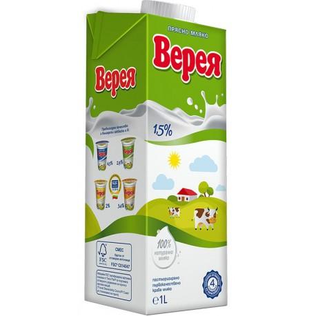 Прясно мляко Верея 1,5% 1l