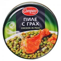 Пиле с грах Compass 300g