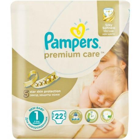 Пелени Pampers Premium Care за новородено 22бр.