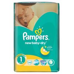 Пелени Pampers за новородено 2-5 kg 43 бр. Размер 1
