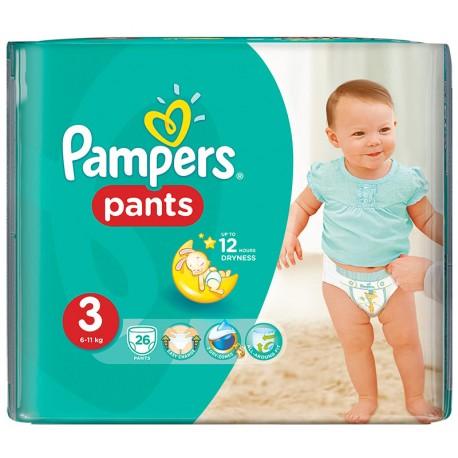 Гащички Pampers Миди 6-11kg 26бр. Размер 3