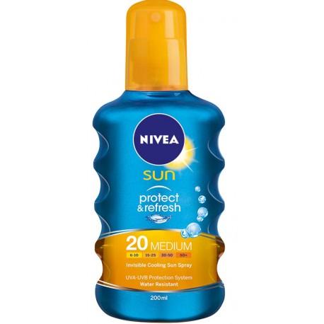 Спрей слънцезащитен NIVEA Protect&Refresh SPF 20 200ml