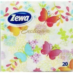 Салфетки ZEWA Exclusive Пеперуди 20бр.