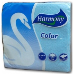 Салфетки HARMONY Color сини 50бр.