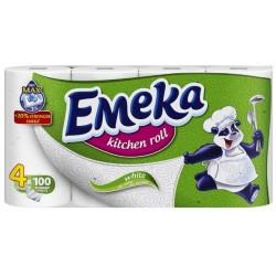 Кухненска ролка ЕМЕКА Бяла 3пластова 4бр.