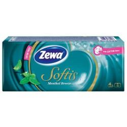 Носни кърпички Zewa Softis Ментол 10x9бр. 4пластови