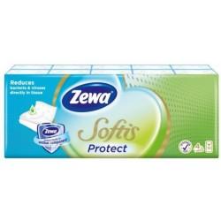Носни кърпички Zewa Softis Protect 10x9бр. 4пластови