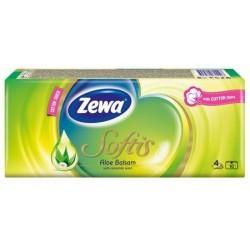 Носни кърпички Zewa Softis Aloe Balsam 10x9бр. 4пластови