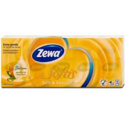 Носни кърпички Zewa Softis Soft&Sensitive 10x9бр. 4пластови