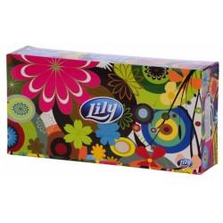 Кърпи за лице Lily кутия 100 бр. 2пластови