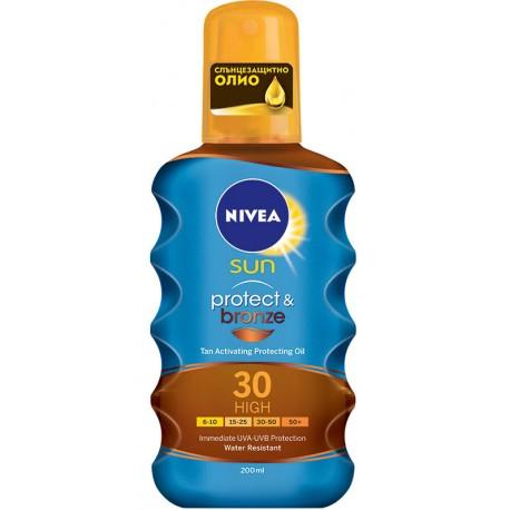Спрей олио NIVEA слънцезащитен PROTECT&BRONZE SPF30 200ml