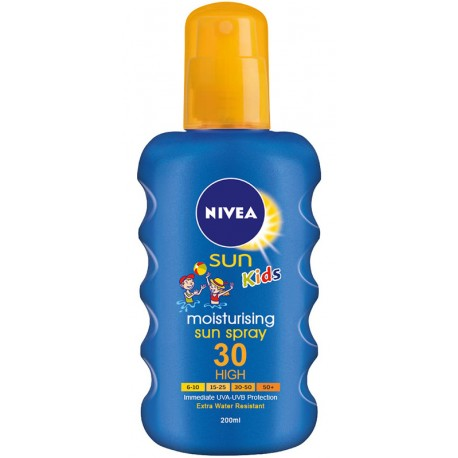 Спрей слънцезащитен NIVEA детски цветен SPF 30 200ml