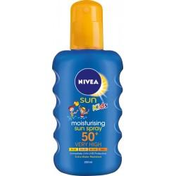 Спрей слънцезащитен NIVEA детски цветен SPF 50+ 200ml