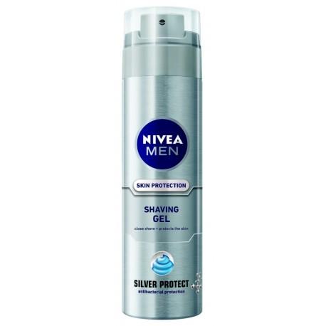 Гел за бръснене Nivea Silver protect 200ml