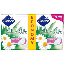 Дамски превръзки Libresse Natural Care Normal Clip duo 20бр.