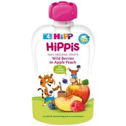HIPP Био плодова закуска Горски плод, ябълка и праскова 100g