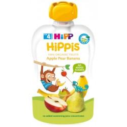 HIPP Био плодова закуска Ябълка, круша, банан 100g