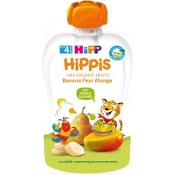 HIPP Био плодова закуска Банан, круша, манго 100g