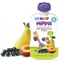 HIPP Био плодова закуска Слива, касис и круша 100g