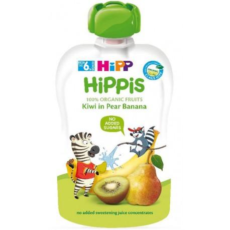 HIPP Био плодова закуска Круша, банан, киви 100g
