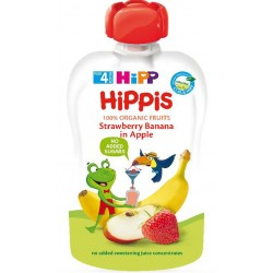 HIPP Био плодова закуска Ябълка, ягода, банан 100g
